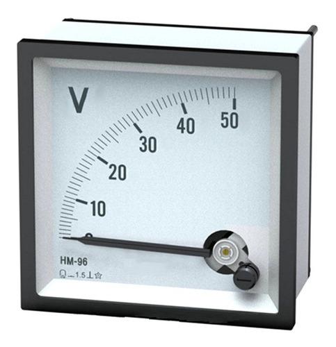 Voltimetro Panel 0 6 9 10 12 14 20 24 30 40 50 Voltios Reloj
