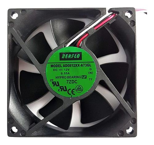Cooler Micro Ventilador 80x80x25mm 12v 80x80 Alta Rotação