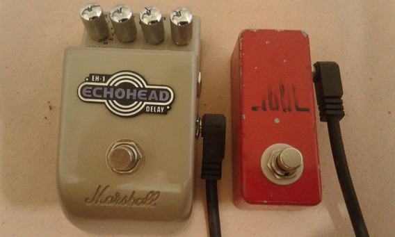 Pedal Digital Delay Echohead + Pedal De Tap Tempo N Boss