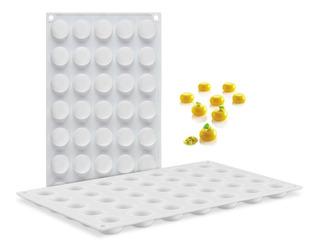 Molde Silicon Semi Esfera Para Repostreria Chocolate Fondant