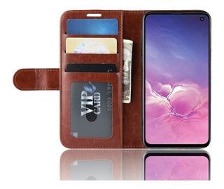 Capa Wallet Samsung Galaxy S10 Plus Em Couro.