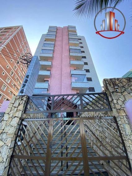 Maravilhoso Apartamento Com 2 Dormitórios Sendo 1 Suíte, De Frente Para O Mar, 63 M² Por R$ 270.000 - Aviação - Praia Grande/sp - Ap1884