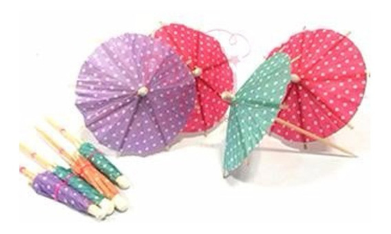 Paraguas Sombrillas Para Tragos Papel Cupcake Picadas X 12