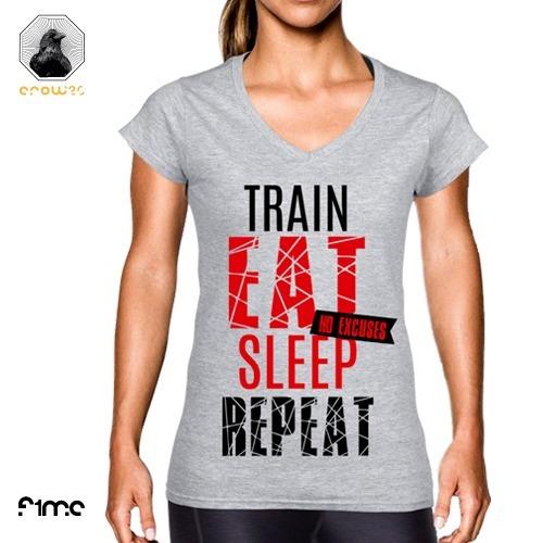 Playera Frases Motivacionales Training Fitness No Excuses!