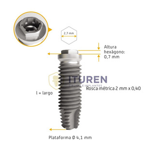 Implante Cilíndrico Hex Externo Ø3,75/4,00mm - Byw Implantes