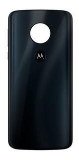 Tampa Traseira Vidro Motorola Moto G6 Plus Xt1926 Azul Escuro