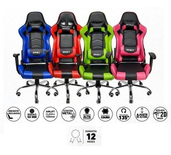 Cadeira Gamer Mx7 Giratoria Preto/verde