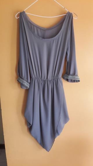 Vestido Formal Color Beige Oscuro Con Detalle De Mostasilla