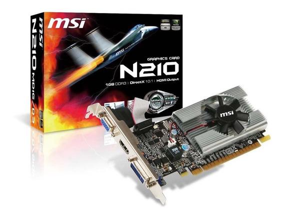 Msi Geforce 210 1024 Mb Ddr3 Pci-express 2.0 Tarjeta Gráfica