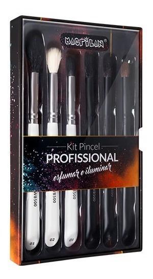 Kit De Pincel Profissional Esfumar Iluminar Macrilan Wb500