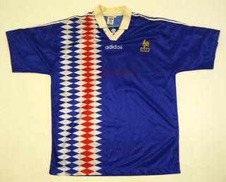 França Camisa De Estreia Do Zidane 1994 Na Seleção, G N° 14 , Ótimo Estado, adidas, Original E Oficial