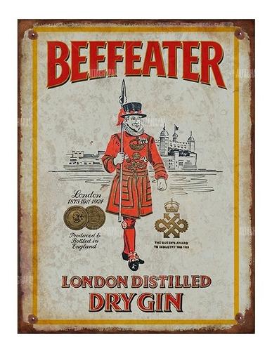 Cartel Chapa Rústica Gin Tonic Beefeater