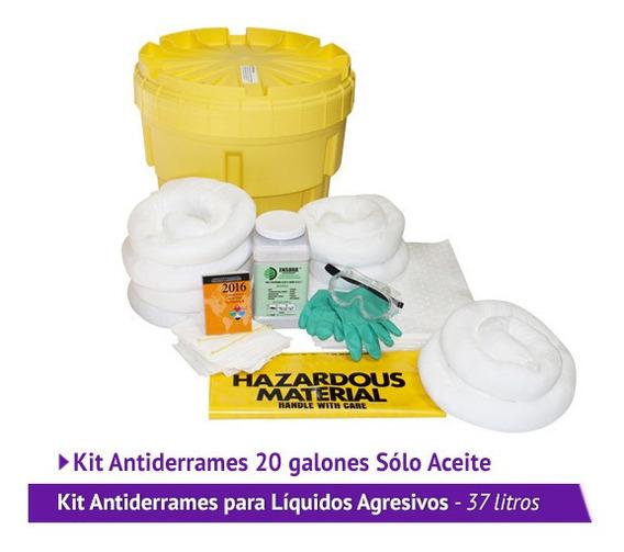 Kit Antiderrames De 20 Galones Sólo Aceite