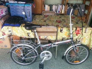 Bicicleta Plegable Aurorita Folding Rodado 20 Gris Casinueva