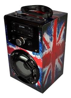 Bocina Portátil Bluetooth Karaoke Con Micrófono Usb Auxiliar