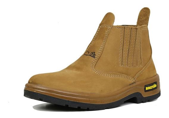 Botina Bretão Boots Em Couro Nobuck Linha Agricola Promoção