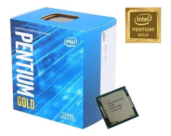 Processador Intel Pentium Gold G5400 3.7ghz 4mb Bx80684g5400