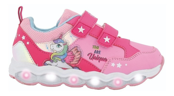 Zapatillas Unicornio Footy Con Luces Multiluces Mundo Manias