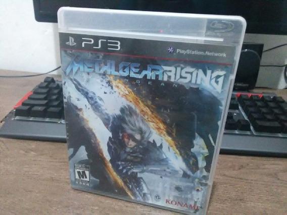 Jogo De Ps3 Metal Gear Rising Em Midia Física Semi Novo