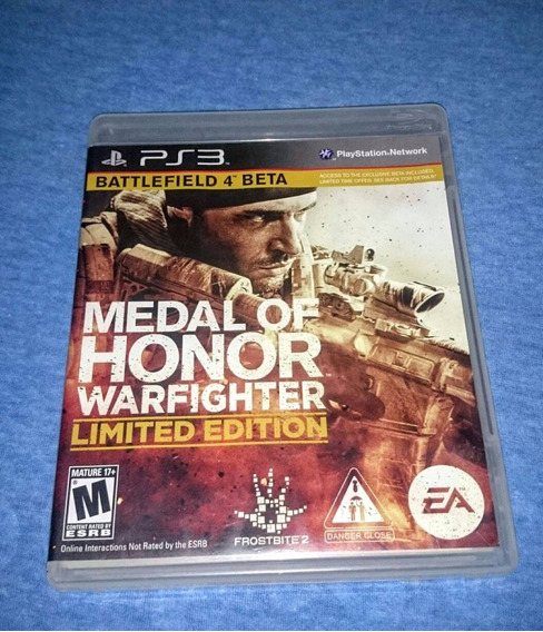 Medal Of Honor Warfighter Limited Edition Ps3 Frete R$10