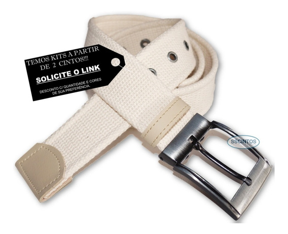Cinto Lona Premium Masculino Fivela C/ Regulagem L46 Cz