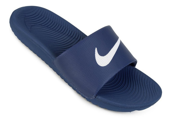 Chinelo Sandália Nike Kawa Slide Azul Masculino