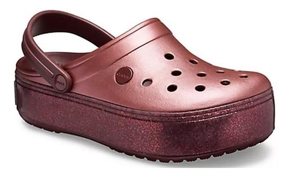 Crocs Sandalias Mujer Original Platform Metallic Nuevo 2019