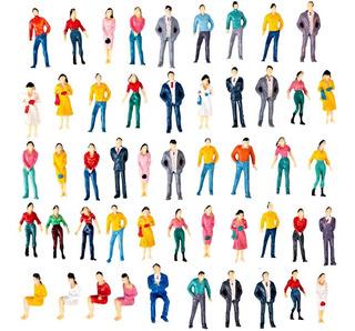 Lote De 50 Personas Personajes Para Maqueta Escala 1:150