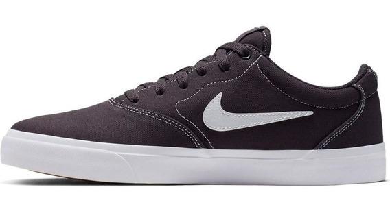 Tênis Nike Sb Charge Solarsofty Cnvs Cinza Original