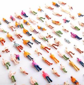 50 Mini Pessoas Miniatura Maquete Ferromodelismo 1:100