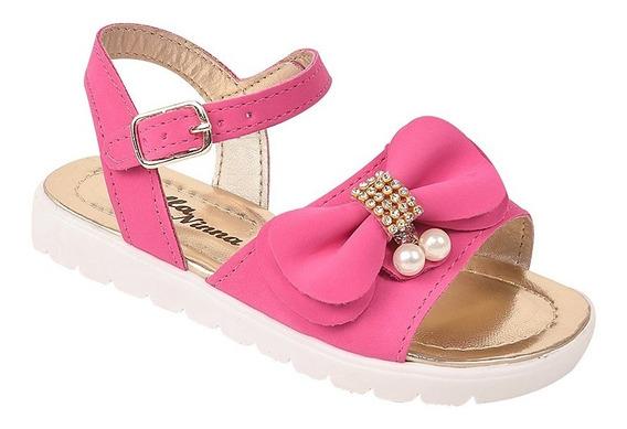 Sandalia Feminina Infantil Pink Cores