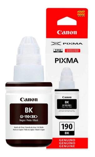 Imagen 1 de 2 de Botella De Tinta Canon Gi-190 G1100 G2100 G3100 Bk Negro