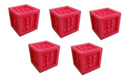 Jogo De Dados Em Braille Alto Relevo Inclusão 5 Pçs