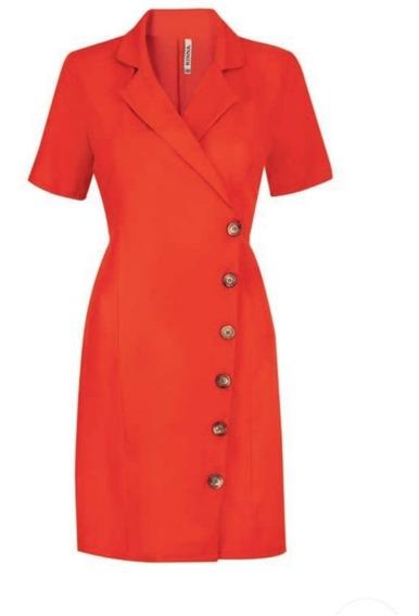 Vestido Naranja 17-061 Rinna Primavera-verano 2020