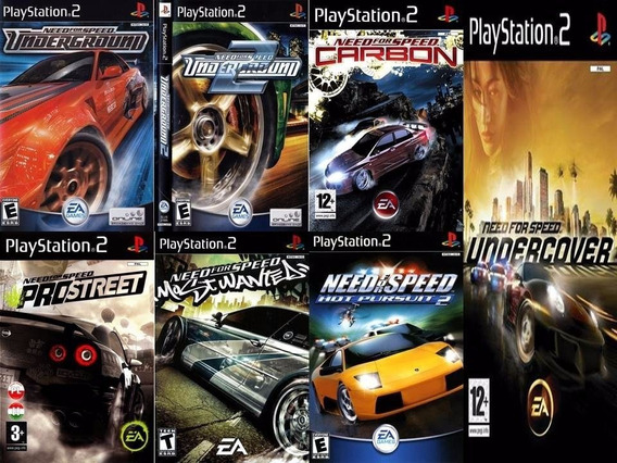 Kit Com 7 Need For Speed Para Ps2
