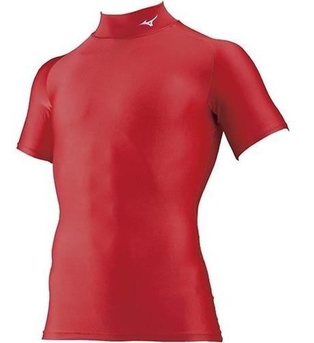 Camisa Mc Rash Guard Mizuno Vermelha Judô Bjj Proteção Uv