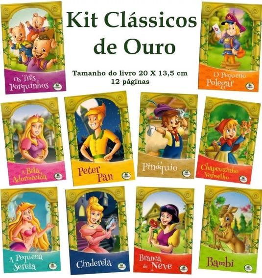 Kit Livro Infantil - Clássicos - 10 Livros - Frete 7,00