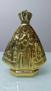 12 Garrafinha Nossa Senhora Dourada Vidro Luxo Batizado