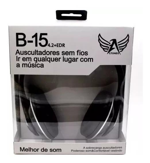 Fone De Ouvido Bluetooth B-15 Wireless Da Marca Ltomax