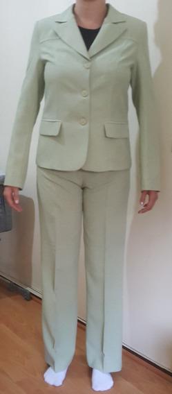 Traje Mujer Talles S / M Cuero Nobuck / Crepe De Seda