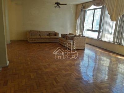 Apartamento Com 4 Dormitórios À Venda, 211 M² Por R$ 1.300.000 - Icaraí - Niterói/rj - Ap2527