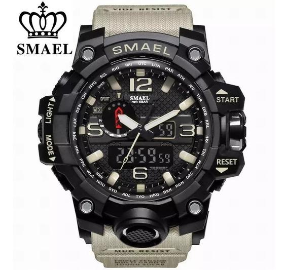 Relógio Masculino Smael 1545 Esportivo Shock Tático Militar
