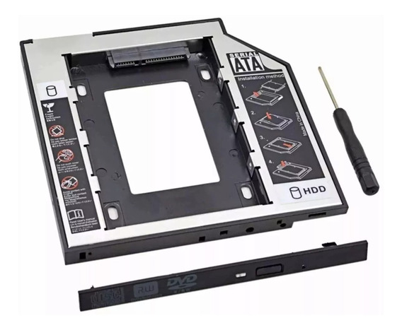 Adaptador Caddy Hd Ssd Sata Case Gaveta Dvd Notebook 12,7mm