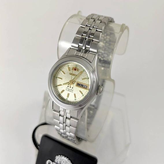 Relógio Feminino Orient Automatico 25mmprateado Fnq04005c9
