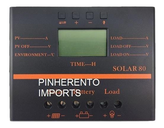 Controlador De Carga Microcontrolado Painel Celula Solar 60a
