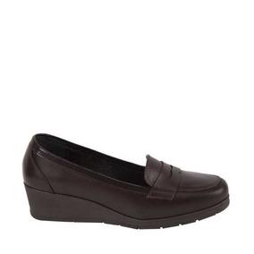 Zapato Confort Seducta 613 Cof 824862 Piel Napa 4.5 Cm Cafe
