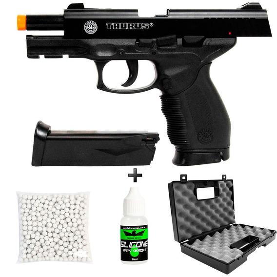 Pistola Airsoft Cybergun Taurus 24/7+ 500bb+silicone+ Maleta