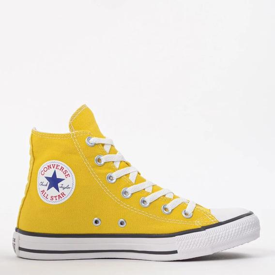 Tênis All Star Converse Chuck Taylor Cano Alto Amarelo