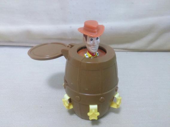 Brinquedo Toy Story Woody No Barril