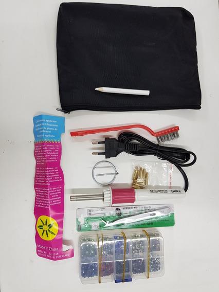 Envio Gratis Aplicador Para Strass Hotfix Electrico + Kit